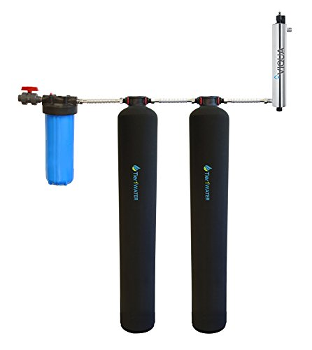 Tier1 Essential Certified Series Salt Free Water Softener and Chlorine Reduction System - with UV Protection