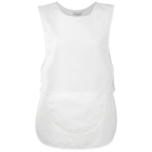 Premier Damen Arbeitsschürze mit Tasche (Small) (Weiß)