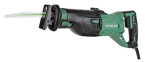 Hitachi CR13VST 11-Amp Corded Reciprocating Saw, 2,800 Strokes Per Minute, Rafter Hook, Variable Speed with Dial, Orbital Function, Tool-less Blade Change, LED Light, 5 Year Warranty
