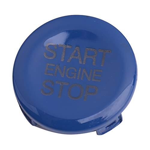 YFQH Tapa de botón de arranque del motor de coche ABS para Alfa Romeo Giulia (nombre del color: azul)