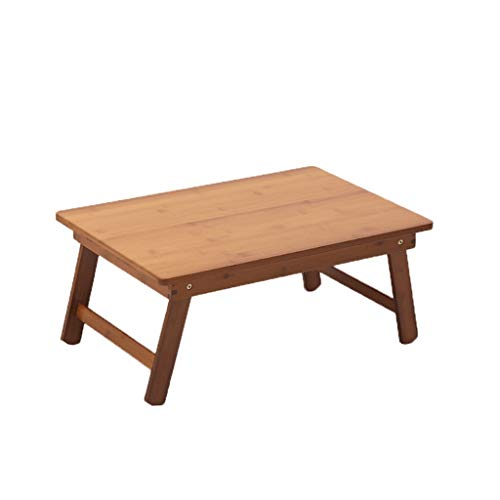 Opvouwbaar Laptop tafelpoot-Bamboo Wood Grain Lapdesk Portable Picnic Bureau Notebook Stand Bureau van de Lezing (Color : Brown, Size : 40x60x25cm)