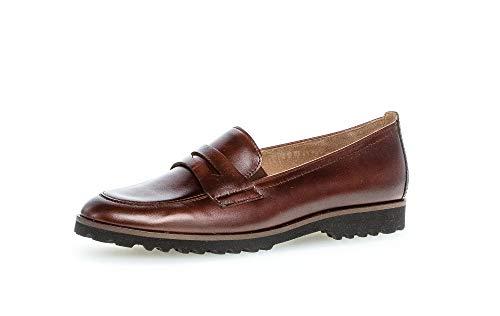 Gabor Damen Slipper, Frauen Mokassins,Best Fitting, Loafer Freizeit schlupfhalbschuh Slip-on College Schuh,Sattel (Effekt),38.5 EU / 5.5 UK