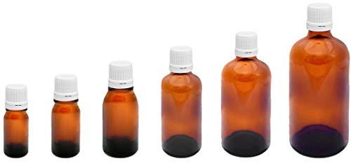 Medizinflasche braun, 10ml, mit Schraubverschluß (10 Stck.), Stockbottle