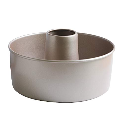 Bakerdream Nonstick Angel Food Pans Baking Cake Mould with Removable Bottom Angel Food Cake Pan Tube Cake Pan (8inch)