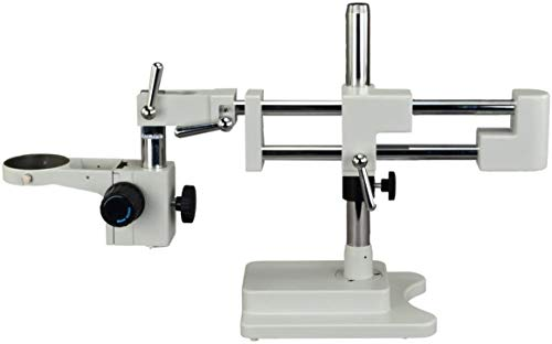 PARCO PA-5 Double-Arm Heavy Duty Boom Stand for Stereo Microscopes | Long & Flexible Working Distance | Cover Large & Wide, Horizontal & Vertical Areas | Solid Foundation (Color: White)
