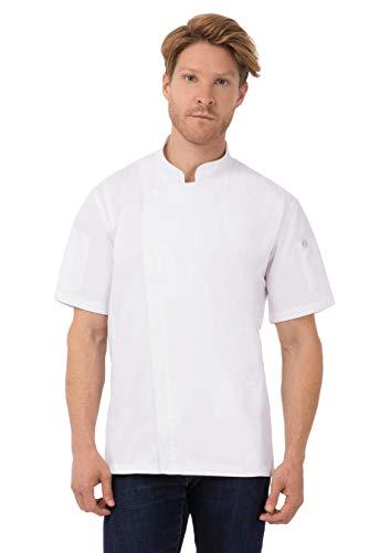 Chef Works Rochester Chef Abrigo para hombre, Blanco, Medium