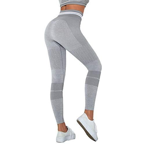 Sport Leggings Damen Yoga, Jogginghose Fitness Ultrasport Sporthose für Damen, High Waist und Seamless für Yoga und Fitness für Fitness Laufen Yoga Freizeit D-M