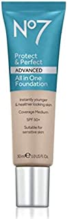 No7 Protect & Perfect Advanced All in One Foundation - WARM IVORY