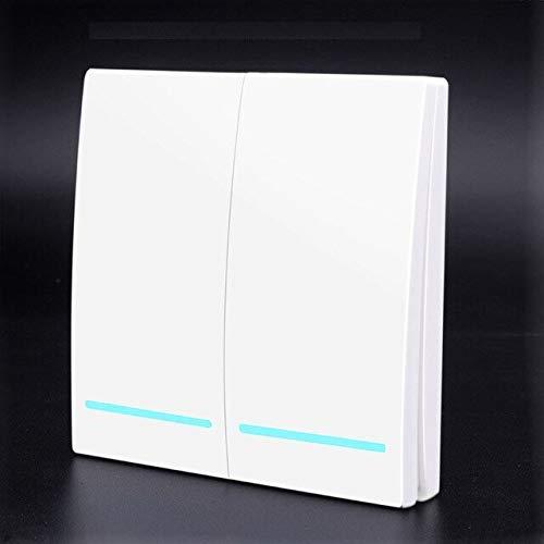 tsp Electronic Accessories & Supplies Smart Push 2-Gang-Schalter, 433 MHz, Weiß