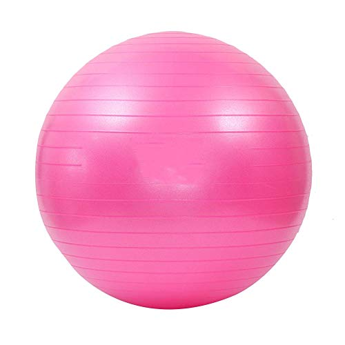 ZAQI Pelota de fitness Pilates Swiss Ball para la estabilidad, bola para balanzas de grandes dimensiones con embarazo para hombre y mujer, soporte 180 kg (color: rosa, tamaño: 55 cm/22 in)