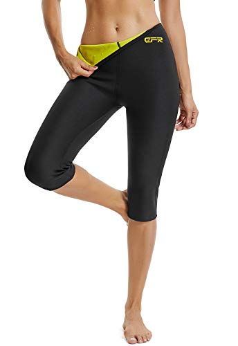 FITTOO Pantaloni Sauna Dimagranti Donna Leggins Sportivi Fitness Snellente Sauna Pants Shapers Neoprene Termico Hot Pantaloni Pantaloncino