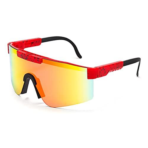 WOJING Gafas de sol mujeres hombres azul marco espejo lente a prueba de viento deporte no polarizado gafas de sol para hombres/mujer UV400