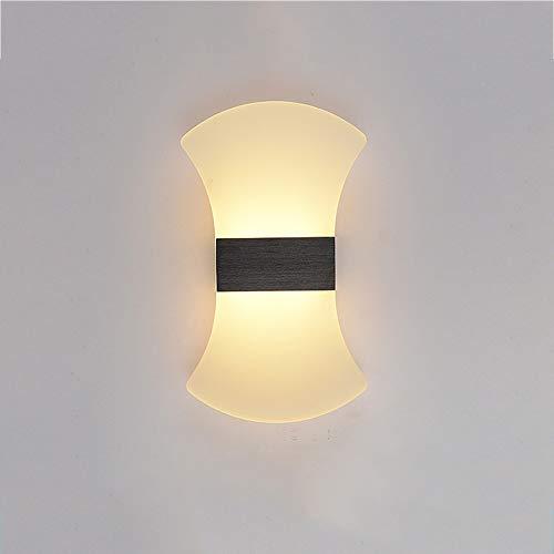 Yetu Led-wandlamp, voor binnen, 12 W, LED, hoge en lage wandlamp, voor nachtkastje, woonkamer, keuken, trap, loft, warmwit