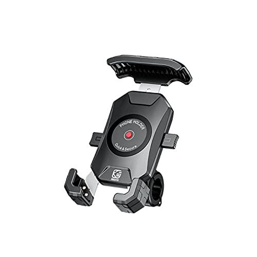 Meipai Soporte de teléfono para bicicleta de rotación de 360°, para todos los smartphones de 3,5 a 6,5 pulgadas