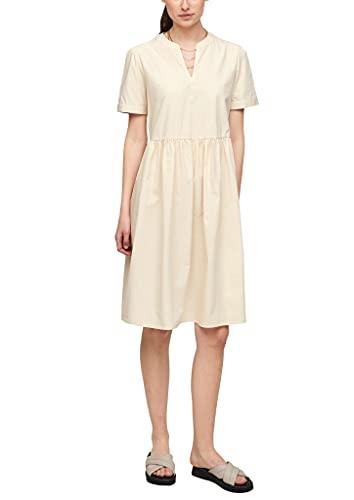 s.Oliver Damen Kleid mit Tunika-Ausschnitt Light beige 32