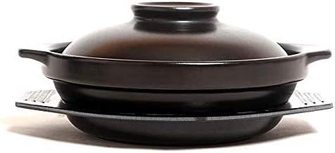 Praktisch Braadpan gerechten braadpan gerechten pot zwart 45 oz keramische stoofpot pot met deksel braadpan-japanse hete p...