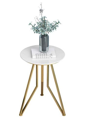 STO Nordic Simple Wrought Iron Marble Side Sofa Corner Living Room Golden Small Coffee Table Creative Small Round Table
