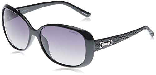 Polaroid P8430 IX KIH Gafas de sol, Negro (Black/Grey Faded Polarized), 58 para Mujer