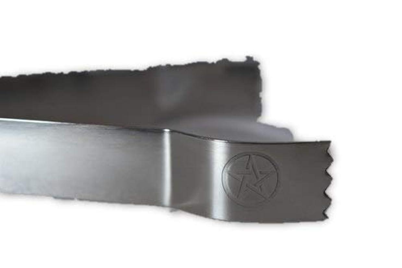 成果テニス回転するSTAR Engraved Tongs for use withチャコールタブとIncense樹脂tool-ツールfor Blessings、クリア負Energies、しみ、Healing