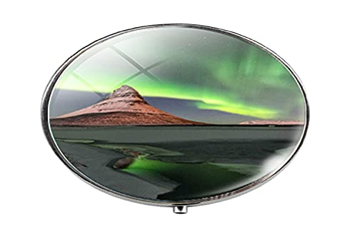 Pastillero para fotos de cristal de Aurora de Northern Lights - Caja de pastillas, caja de cristal para caramelos