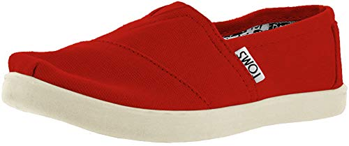 Toms Classic Canvas Red Kids Trainers Size 36.5 EU