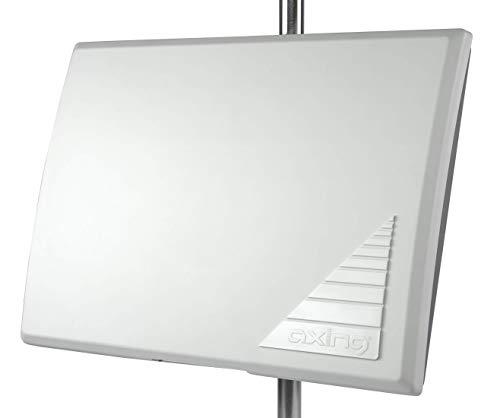 Axing TAA 3-20 actieve DVB-T/T2 platte antenne televisie radio voor binnen en buiten wit