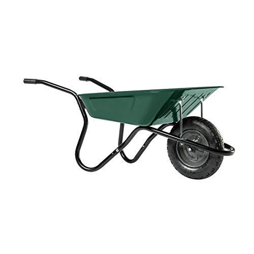 HAEMMERLIN Schubkarre BiBox Smart (Gartenkarre mit Luftrad, 90 Liter Füllmenge, Mulde lackiert)