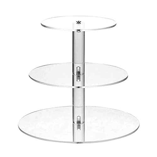 3 Tier Round Cupcake Stand Acrylic Cake Stand Cupcake Tier Stands...