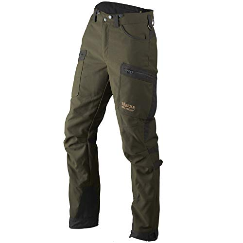 Härkila Pantalon de chasse Pro Hunter Move imperméable et silencieux en Cordura® robuste – Pantalon de chasse respirant pour homme vert avec Airtech (TM) by F.O.V – Taille : 46