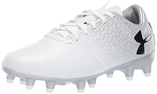 Under Armour Unisex-Kinder Ua Magnetico Select Fg Jr Fußballschuhe, Weiß (White/Metallic Silver/Black (100) 100), 37.5 EU