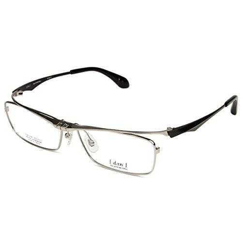 【DUN】 ドゥアン 眼鏡 日本製 ハネ上げ式 跳ね上げ メガネ DUN2101 dun-2101(7:チタニウム/ブラック)