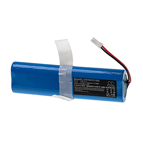 vhbw Akku kompatibel mit Medion MD 18500, 18501, 18600 Staubsauger Home Cleaner Heimroboter (2600mAh, 14,4V, Li-Ion)