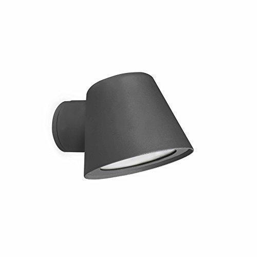 Faro Barcelona 71363 - GINA Aplique, 35W, aluminio inyectado, color gris