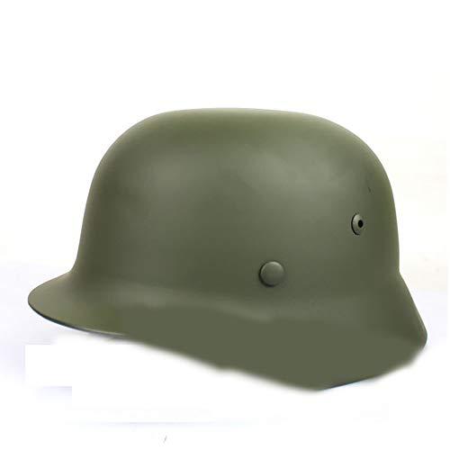 Casco, Todo Acero Segunda Guerra Mundial Casco clásico alemán Protección de Seguridad Cascos al Aire Libre Casco Harley Cascos para Adultos,B