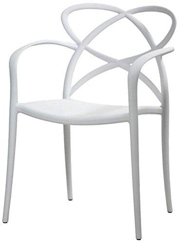 Fashion Commerce FC9, Poltroncina, Bianco, 52 x 57 x 81 cm, 2 sedie