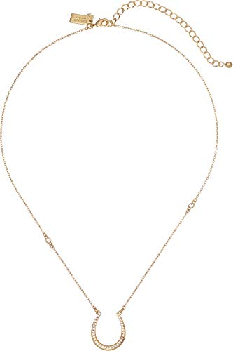 Kate Spade New York Wild Ones Pave Horseshoe Mini Pendant Necklace Clear/Gold One Size