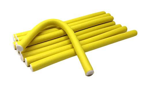 "1/2"" Diameter 9.5' Length Twist-flex Hair Roller Curling Rods – 12 Pack"