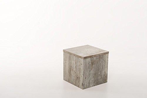 Hermes24 Beistelltisch Blumenhocker Sofatisch Ablage BHBN30 B/T/H 30 x 30 x 30 cm Beton Natur