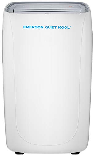 Emerson Quiet Kool Emerson SMART Portable Air Conditioner with Remote Wi-Fi and Voice Control for Rooms up to 300-Sq. Ft, 8000 BTU WITH WIFI, White