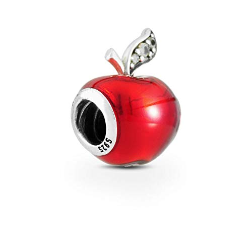 Jewelry Bracelet 925 Pandora Natural Authentic Sterling Silver Red Apple Bead Fit Original For Birthday Fashion Gift Diy Gifts For Women