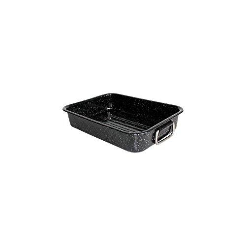 Beka 14721404 Kitchen Roc  Plat à four en acier émaillé noir moucheté 40 cm