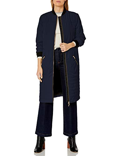 Armani Exchange AX Damen Knee Length Coat with Front and Zipper Pockets Isolierte Jacke, Blueberry Jelly, Large
