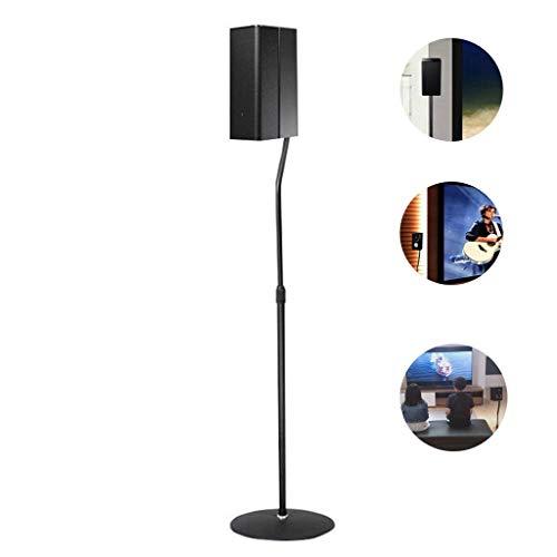 Lautsprecherständer for Lautsprecher Surround-Lautsprecher Bodenmetallstativ Office Monitor Bodenständer Lautsprecher Ständer (Color : Black, Size : 95-118cm)