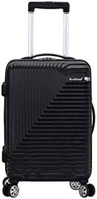 Rockland Star Trail Hardside Spinner Wheel Luggage Black Carry On 20 Inch product image
