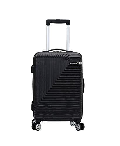 Rockland Star Trail Hardside Spinner Wheel Luggage, Black