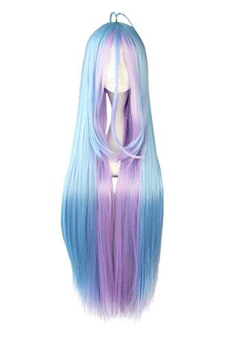 CoolChange Peluca de Shiro de la Serie No Game No Life, Azul y violete