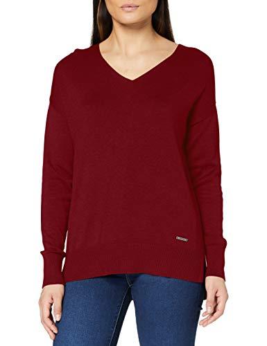 ESPRIT Damen 080EE1I332 Pullover, 600/BORDEAUX RED, L