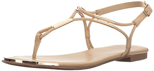 Dolce Vita Women's Marly Flat Sandal,Nude,10 B(M) US