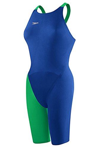 Speedo LZR Racer Elite 2 Comfort Strap Kneeskin,Blue/Green (421),28L