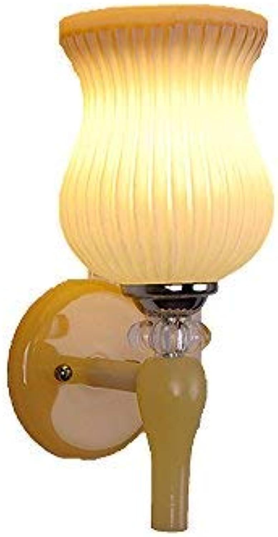 BAIF Wandleuchten, Einzel- und Doppel-LED Wohnzimmer Schlafzimmer Nacht Gang Hotel Dekoration Lampe 29x15x14cm Halterung Licht
